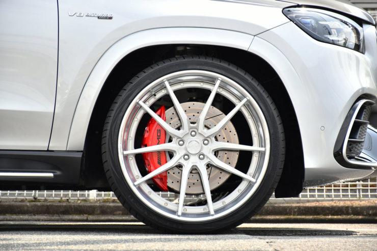 ベンツ AMG GLS63s ローダウン ロワリング 1221 アメ鍛 24インチ カスタム 名古屋