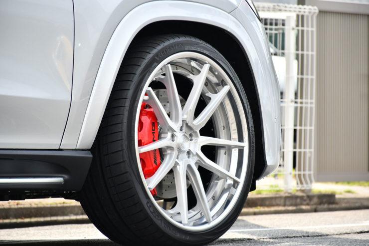 ベンツ AMG GLS63s ローダウン 1221 アメ鍛 ホイール 24インチ カスタム 名古屋