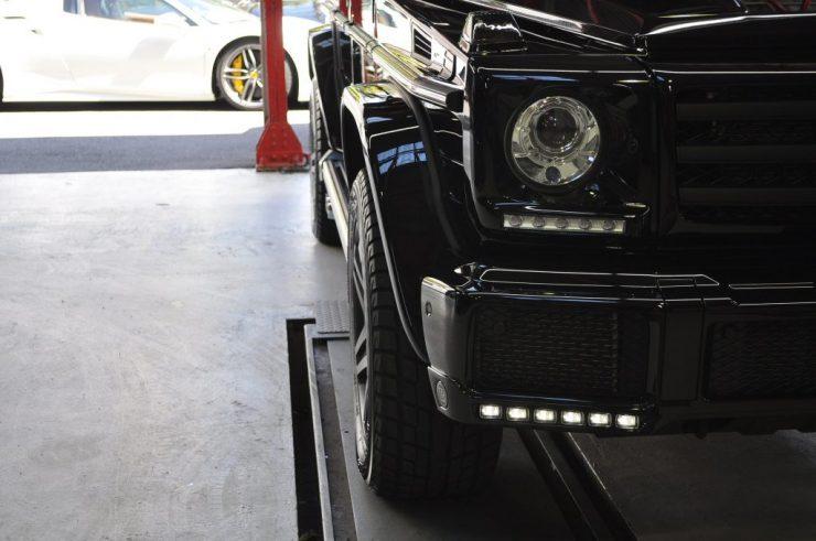 W463 G550 ゲレンデ ブラバス BRABUS マフラー交換 デイライト スペーサー カスタム