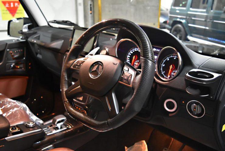 Gクラス ステアリング カーボン ゲレンデ W463 カスタム ブラックアウト