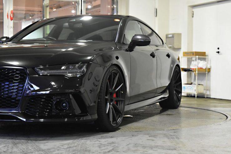 アウディ RS7 21インチ 鍛造 ブラックアウト ローダウン