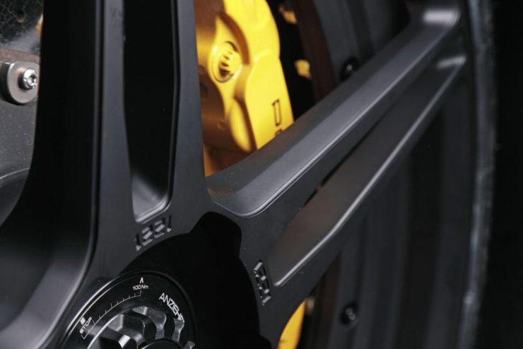 ポルシェ 1221 ADV.1 21インチ 鍛造 アメ鍛 ポルシェ ターボS ブラックアウト ダウンサス