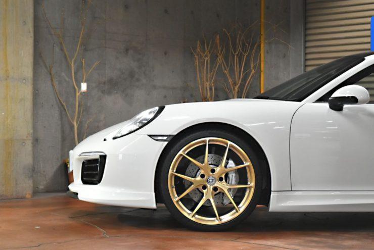 ポルシェ 911 ロベルタ リフティング 車高調 デイライト コーディング テックアート