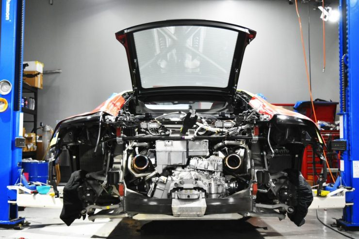 R8 V10 PLUS マフラー交換 CAPRISOTO