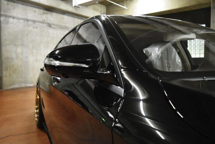W222 ラッピング 窓枠ブラック ロワリング ブラックアウト