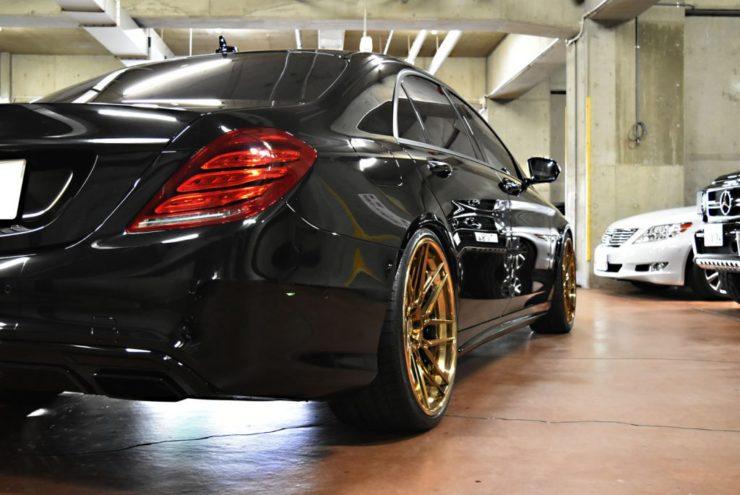 W222 S63 S550 S560 ブラックアウト ロワリング ローダウン 22インチ