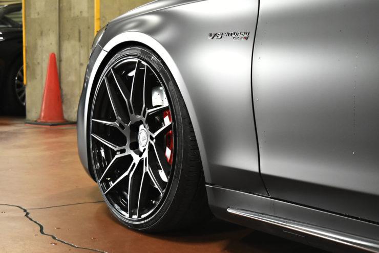 W222 ベンツ AMG ローダウン ロワリング iid マットブラック ブラックアウト