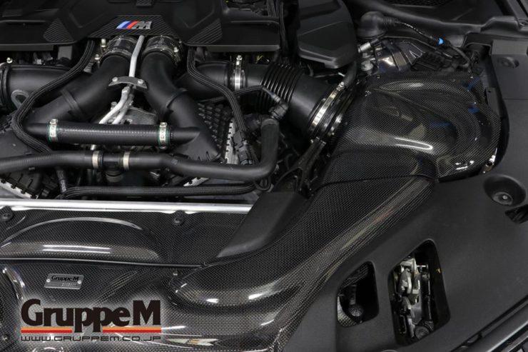 BMW M5 F90 エアクリーナー グループM K&N カーボン