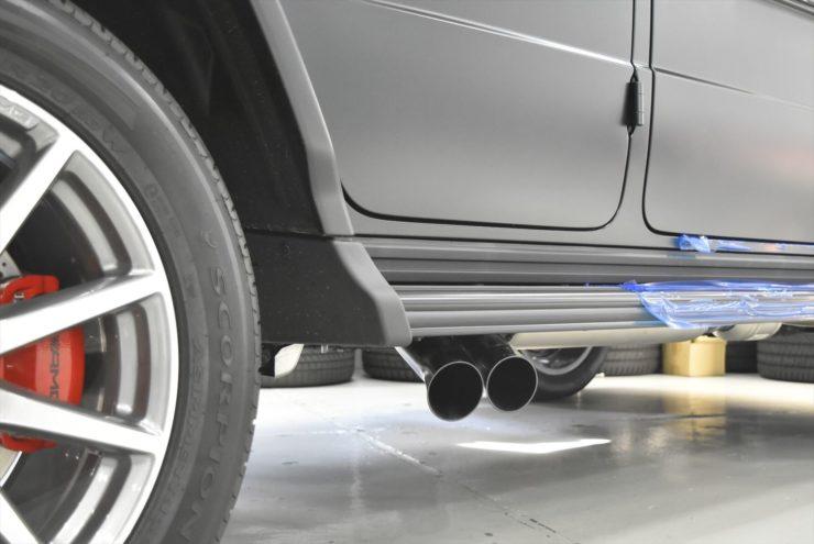 AMG G63 W463A マフラー ブラバス バルブ付マフラー エンブレムペイント インナーブラックヘッドライト