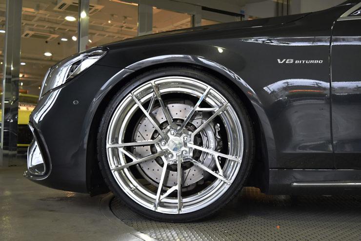 AMG S63 W222 ローダウン ブラックアウト ロティフォーム アメ鍛 22インチ